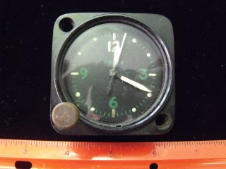 ESTATE VINTAGE ANTIQUE AMERICAN WALTHAM 8 DAY MILITARY CLOCK WORKING