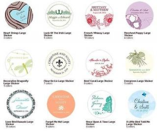 50 Wedding Personalized Tins,Favor Containers,Envelope Seal Round
