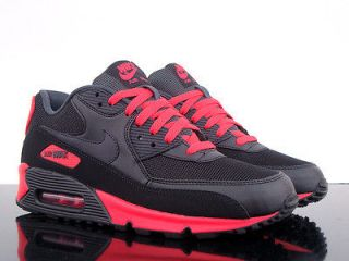 NIKE Air Max 90 Essential black anthracite sunburst red men shoes