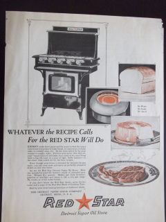 1921 Red Star Detroit Vapor Oil Stove No Wicks No Smoke No Smell