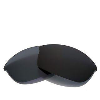 Polarized Black Replacement Lenses For Oakley Flak Jacket Sunglasses