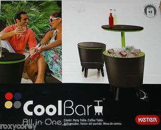 Keter Cool Bar All in One 3 In 1 Cooler Cocktail Table Coffee Park NI