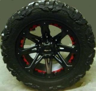 18 BALLISTIC JESTER RIM & TIRE NITTO MUD GRAPPLER 35