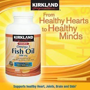 omega 3 fish oil kirkland new 1000mg 400 Softgels