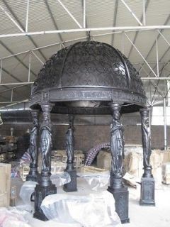 CAST IRON VICTORIAN FIGURAL OUTDOOR SOLID TOP GAZEBO #GAZ3A