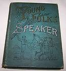 1893 HB BOOK YOUNG FOLKS SPEAKER RECITAT​IONS STORIES M.​