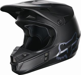 2013 FOX RACING V1 MATTE BLACK Helmet BLACK 02824 ALL SIZES Motocross