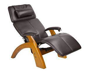 THE PERFECT CHAIR Espresso Zero Anti Gravity Recliner Leather Maple
