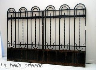 FRENCH ART DECO WROUGHT IRON GATE . Must SEE