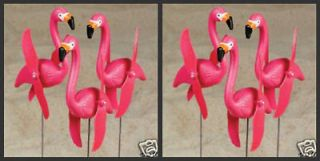 SPINNING PINK FLAMINGO BIRDS YARD ORNAMENT STAKES NEW
