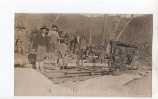 R396 Real Photo Postcard Cannonball Lumber Company rig and equipment