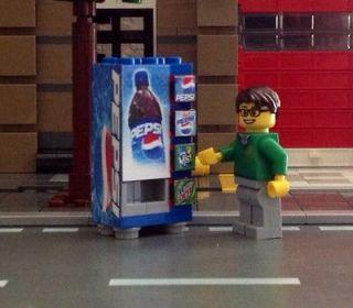 LEGO Custom Town City Train Pepsi Vending Machine made from LEGO(R)