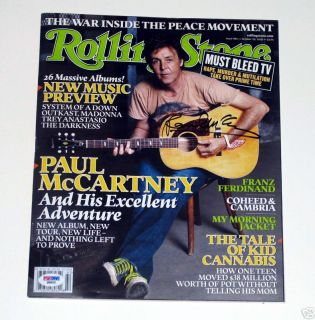Paul McCartney Autograph Signed Rolling Stone Beatles PROOF PSA DNA