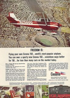 1968 Cessna 150 FULL COLOR Aircraft ad 4/27/12