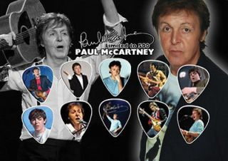 Paul McCartney The Beatles Guitar Pick Set Display Limited Edition