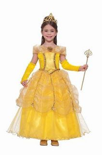 Yellow Drum Majorette Costume Gown for Child Size SM (4 6)