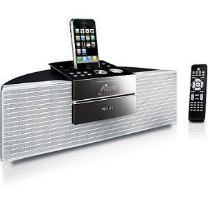 Philips Dcm250/37 Stereo System With Iphone/ipod Dock