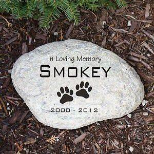 Personalized Pet Dog Cat Memorial Garden Stone