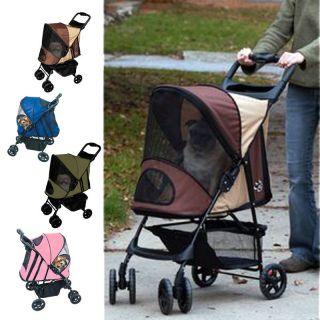 Pet Gear Happy Trails Pet Dog Cat Stroller Medium Capacity 30 lbs NEW