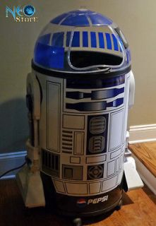 Star Wars R2D2 Pepsi ice cooler Original 1996 full life size on wheels