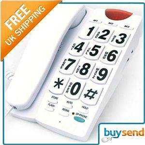 Jumbo Big Large Buttons Numbers Home Telephone Phone