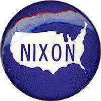 Unusual 1968 Richard Nixon U.S. Map Campaign Button