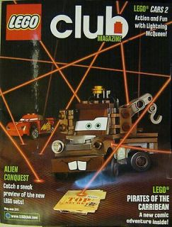 LEGO CLUB Magazine May June 2011 Alien Conquest   Cars 2   Pirates of