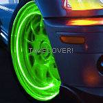 GREEN LED TYRE LIGHTS TIRE WHEEL VALVE STEM CAP Car NEW