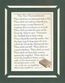 Bible TEN COMMANDMENTS Christian LOVE LORD GOD verses poems plaques