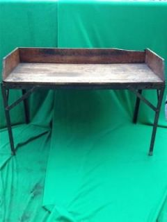 WOODEN WOOD STEEL WORKBENCH WORK TABLE BENCH 57 x 38 LITTLESTOWN VISE
