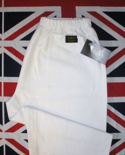 White pizza chef food industry painters 100% cotton pants trousers L&G