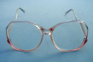 NEW FUNKY RETRO READING GLASSES CLEAR PINK FRAMES + 3.0
