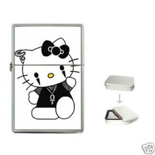 Goth Hello Kitty New Custom Cigarette Flip Top Lighter