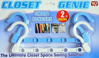 2pc Value Pack Closet Genie Space Saving Smart Hangers *NEW*