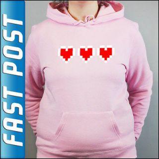 Valentines Day 3 Hearts Zelda Pink Hoodie Top Hoody Valentines Gift