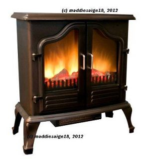 Portable Heater 1500w Electric Fireplace Stove w/ Classic Antique
