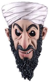 Adult Osama Bin Laden Famous Dead Terrorist 3/4 Latex Costume Mask