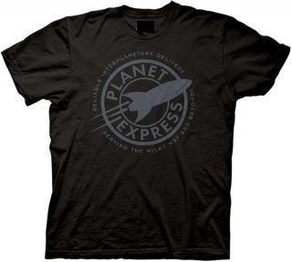 PLANET EXPRESS FUTURAMA Black T Shirt All Sizes Av. (Read Description