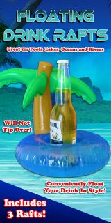 Palm Tree Beverage Floater (3 Pack) For swimming pools and spas