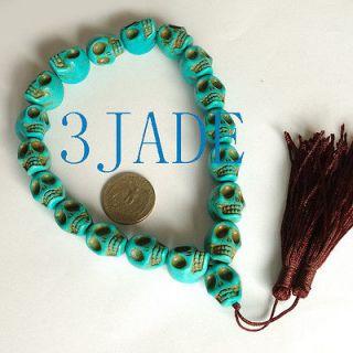Tibetan Turquoise Skull Meditation Prayer Beads Mala