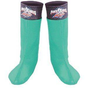 Childs Fun Green Power Ranger Boot Covers Halloween Costume Outfit