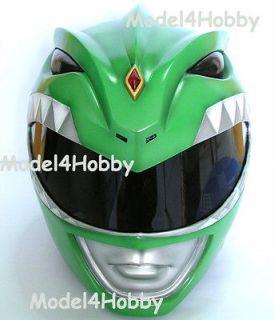 Cosplay Mighty Morphin Power Rangers GREEN Ranger 1/1 Scale Helmet