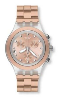Swatch Irony Diaphane Chrono Full Blooded Camel Unisex Watch
