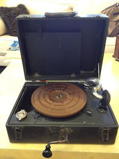 vintage portable record player in Consumer Electronics