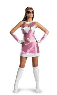 Deluxe Sassy Pink Power Ranger Womens Costume Christmas Party Gift