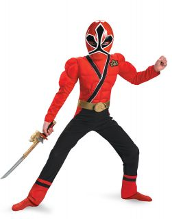 Power Ranger Red Ranger Samurai Classic Muscle Child Halloween Costume