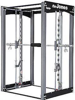 JONES Club Smith Machine Home Gym Fitness Power Rack Cage Squat New
