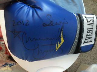 Sergio Maravilla Martinez Signed Blue Everlast Boxing glove with