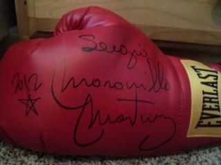 Sergio Maravilla Martinez Signed Red Everlast Boxing glove with