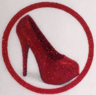 Glittered HIGH HEEL SHOES Choose Size Colour Cake Toppers Edible Wafer